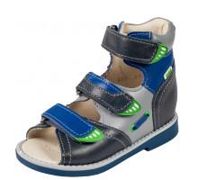 Обувь ортопедическая 033-211 Сандалики высокие серые