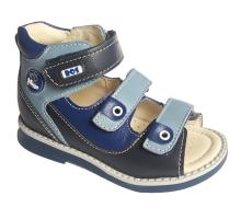 Обувь ортопедическая 162-715 Сандалики синие с голубым