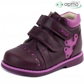 Ботинки осень бордовый с  фиолетовым
