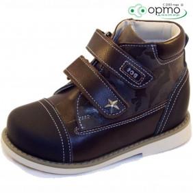 Ботинки осень синие с черным