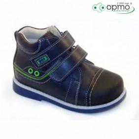 Ботинки осень синие с зеленым