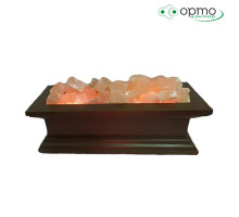 Декоративная соляная лампа-Камин 50х20х20 из дерева в комплекте