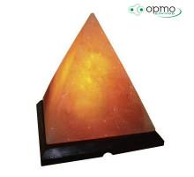 Декоративно-обработанная соляная лампа ПИРАМИДА малая