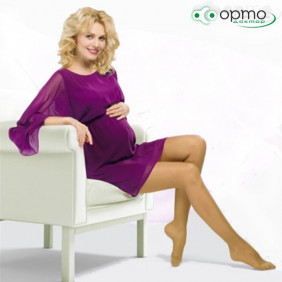Колготки для беременных полупрозрачные Venoteks