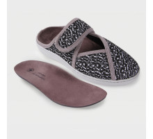 Обувь ортопедическая малосложная LM Orthopedic, туфли домашние, черно-белый