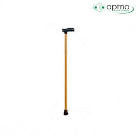 Трость деревянная с пластмассовой ручкой 90см