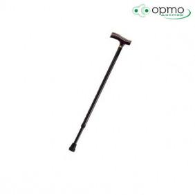 Трость инвалидная телескопическая с деревянной ручкой