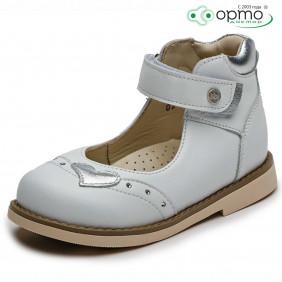 Туфли белый с серебром
